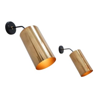 Boris Jean Lacroix Large Cylinder Sconces For Sale