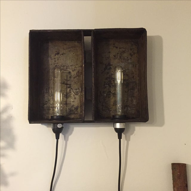 Industrial Bread Pan Sconce - Image 4 of 5