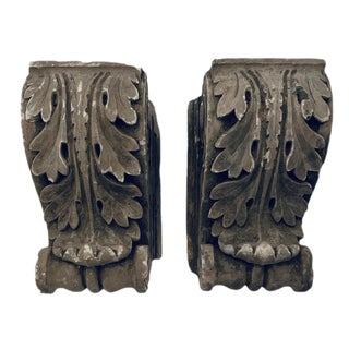 Acanthus Leaf Architectural Brackets- a Pair For Sale