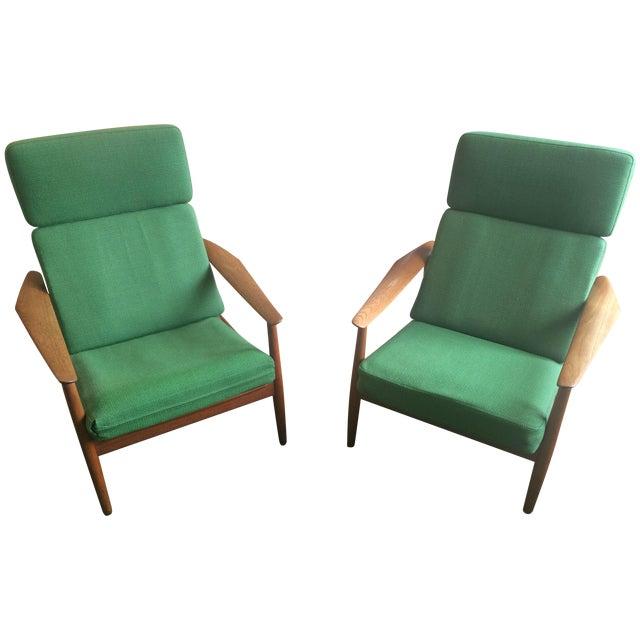Danish Modern Teak Lounge Chairs - A Pair - Image 1 of 7