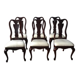 1990s Vintage Thomasville Dining Room Chairs- Set of 6 For Sale