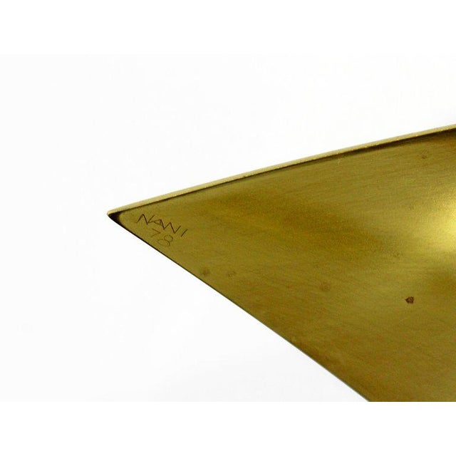 Mid-Century Modern Bronze Ribbon Marble Table Sculpture Signed James Nani 1978 For Sale - Image 4 of 13