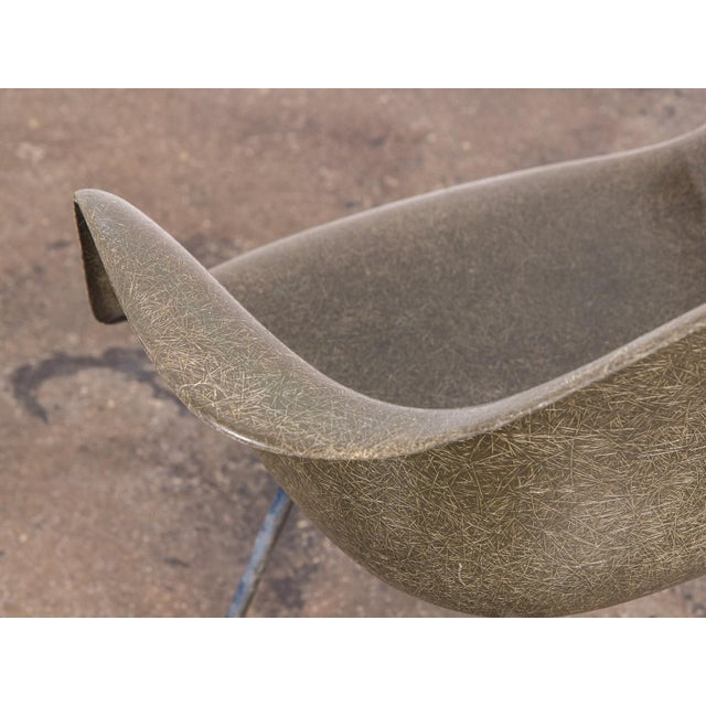 Green Eames Olive Green Fiberglass Armshell Chair For Sale - Image 8 of 9
