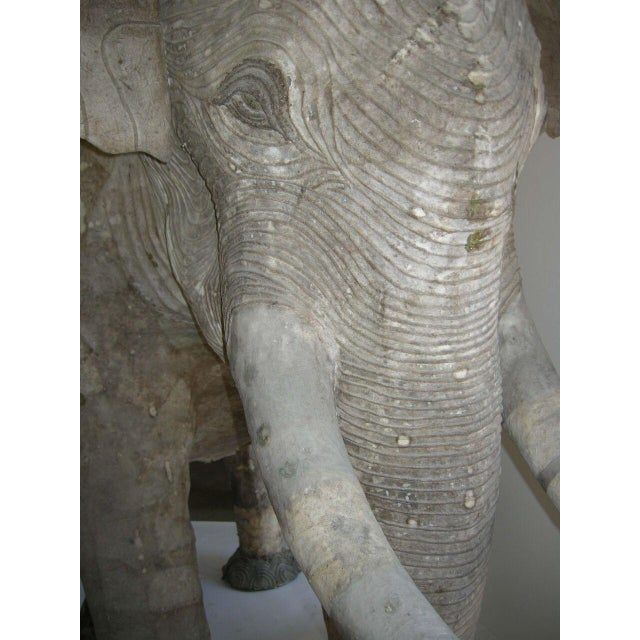 Paper Life Size Papier Mache Elephant For Sale - Image 7 of 9