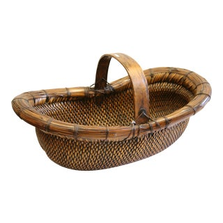 1900s Antique Chinese Basket For Sale