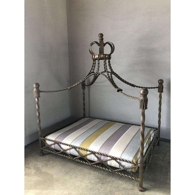 2010s Baroque Ornate Four Poster Dog Bed With Crown For Sale - Image 5 of 7