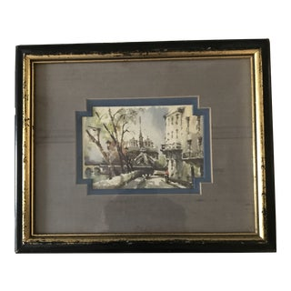 Early 20th Century Antique Parisian Framed Print