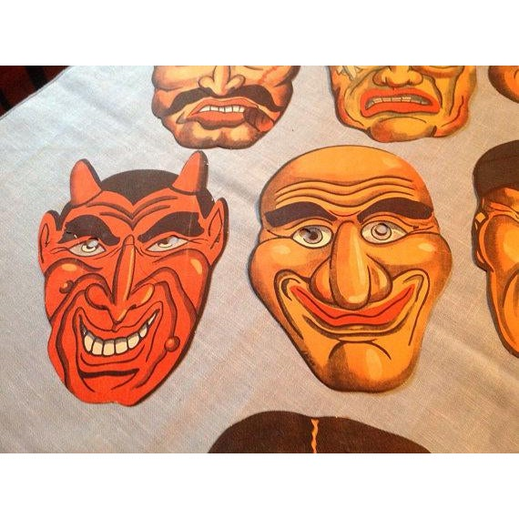 1940's Vintage Halloween Masks - Set of 7 - Image 4 of 5