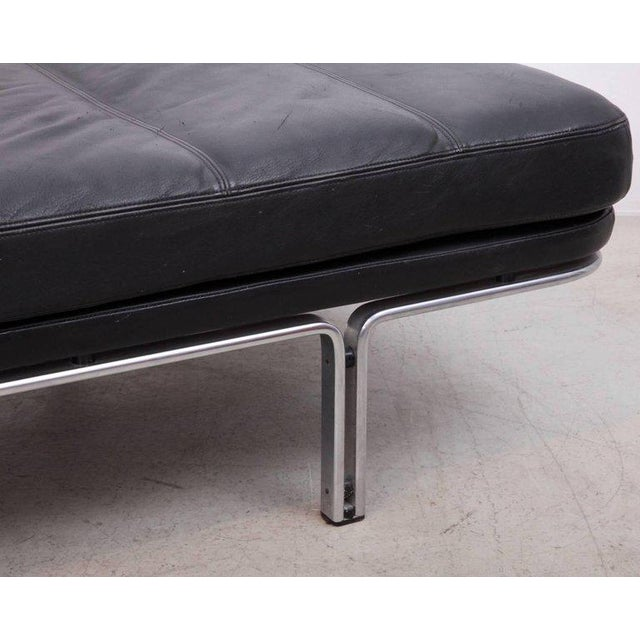 1960s Horst Bruning Daybed in Original Black Leather and Chrome for Kill International For Sale - Image 5 of 6