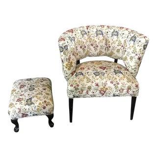 1950s Barrel Chair & Ottoman