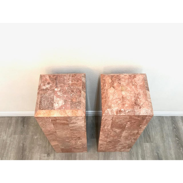 Vintage Tessellated Regency Marble Pedestals - a Pair For Sale - Image 9 of 11