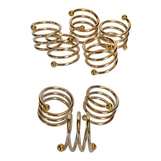 Gold Tone Napkin Rings by Kemp & Beatley - Set of 8 For Sale