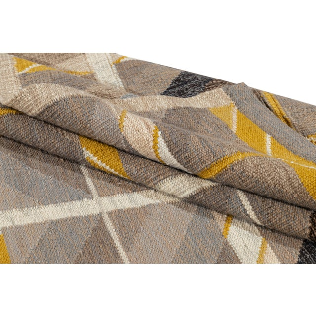 21st Century Modern Scandinavian Style Flat-Weave Rug For Sale - Image 4 of 12