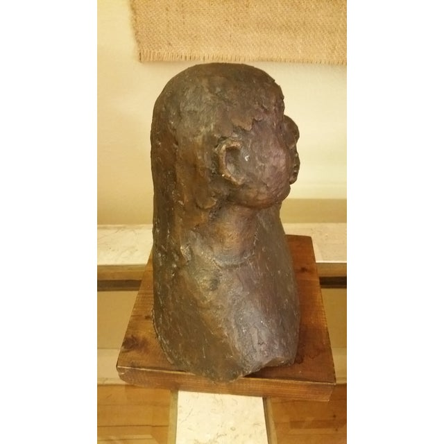 1968 Signed Bronze Mother & Child Sculpture For Sale In New York - Image 6 of 8