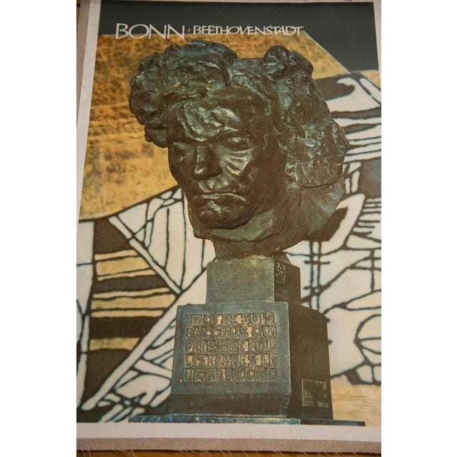 Mid-Century Beethoven Poster For Sale - Image 4 of 4