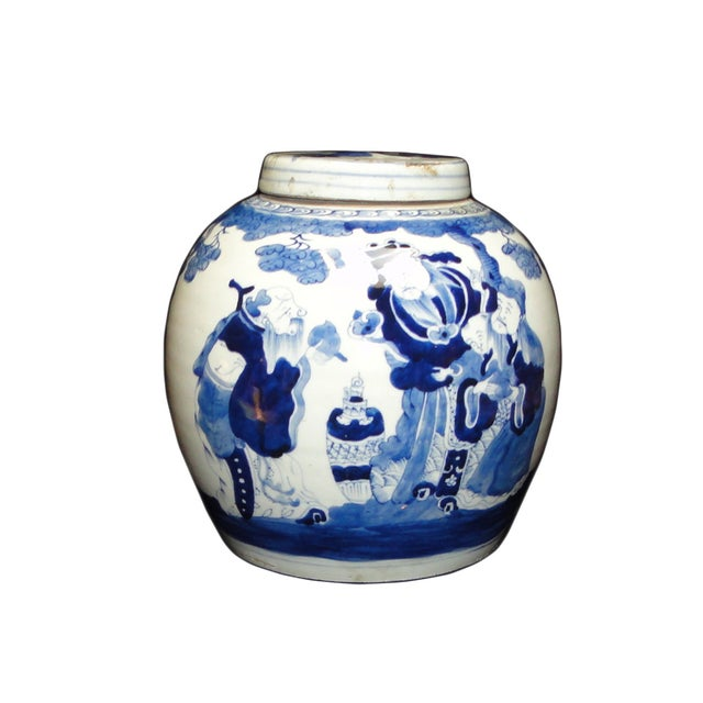 Chinese blue white porcelain decor ginger jar chairish for Decorating with blue and white pottery