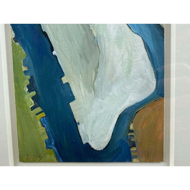 """Wood Chase Langford """"Manhattan No. 1"""", Expressionist Oil Painting, 2003 For Sale - Image 7 of 13"""