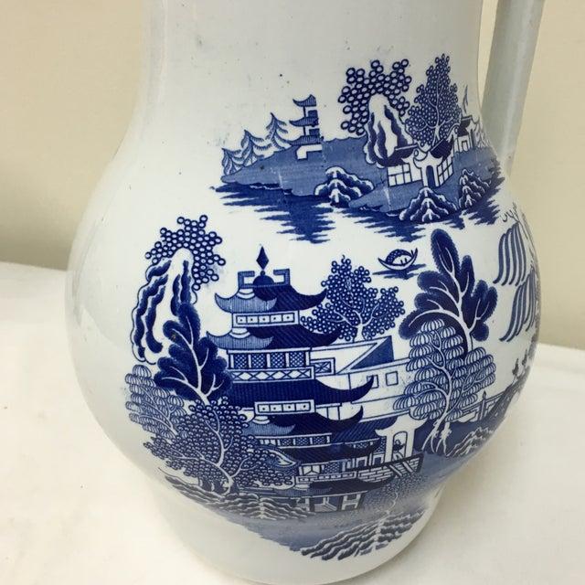 Vintage Blue Willow Vase For Sale - Image 4 of 9