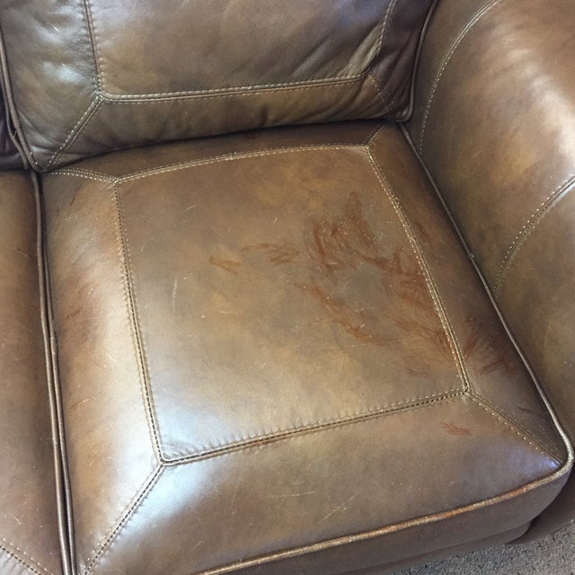 Whittemore Sherrill Leather Sofa - Image 6 of 11