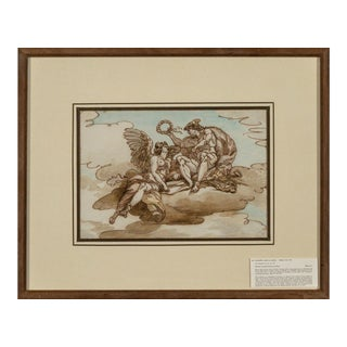 "Giuseppe Cades ""Mercury Crowning Victory"" (Two Works) 1750-1799 For Sale"