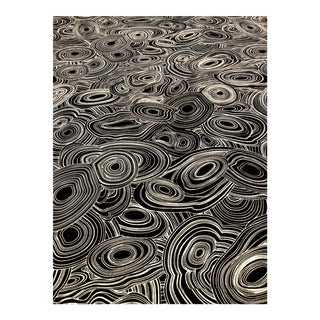 Jonathan Adler for Kravet Regato - Modern Raven Printed Linen Black and Cream Multipurpose Fabric - 39 Yards For Sale
