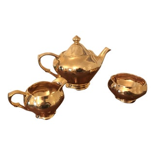 Royal Winston Grimwades Gold Lustre Teapot Set