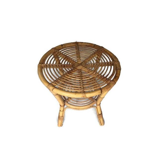Albini-Style Bentwood Bamboo Side Table - Image 5 of 7