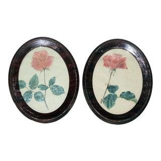 1918 Framed Pink Roses For Sale