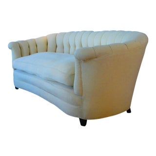 Vintage 1940s Button Tufted Sofa For Sale