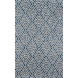 """Madcap Cottage Lake Palace Rajastan Weekend Blue Indoor/Outdoor Area Rug 5'3"""" X 7'6"""" For Sale"""