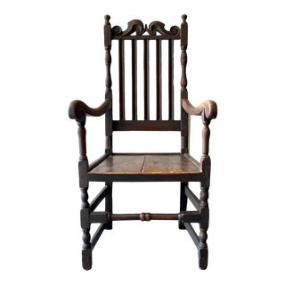 Antique Spanish Colonial Privative Arm Chair For Sale