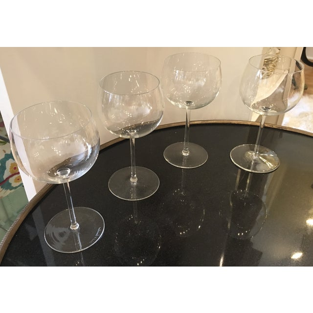 Val St Lambert Wine Goblets - Set of 4 - Image 8 of 11