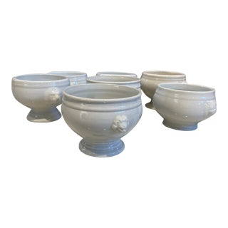 Mismatched French Style Soup Bowls. S/7 For Sale