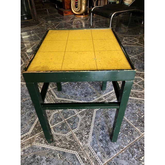 1950s 20th Century Rustic Kittinger Modern Painted Side Table For Sale - Image 5 of 11