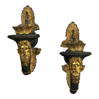 19th Century French Empire One Light Sconces - a Pair For Sale