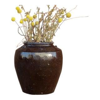 Antique Ebony Mandalay Martaban Jar For Sale