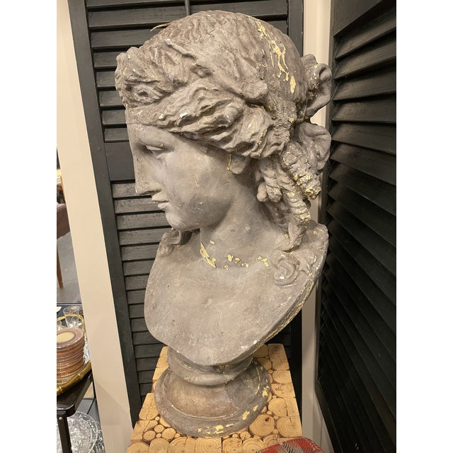 Traditional Vintage Continental Classical Revival Bust For Sale - Image 3 of 4