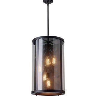5 Light Contemporary Bluffton Indoor / Outdoor Hanging Lantern Chandelier For Sale