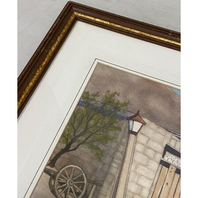 "Impressionist Art Ellis ""Calico Mine, Joe's Saloon"" Original Watercolor C.1980 For Sale - Image 3 of 12"