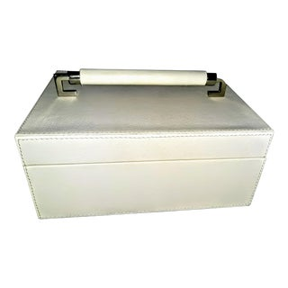 Contemporary Leather Wrapped Handle Box For Sale