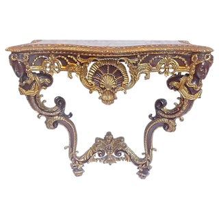 Antique Acanthus & Shell Console Table For Sale