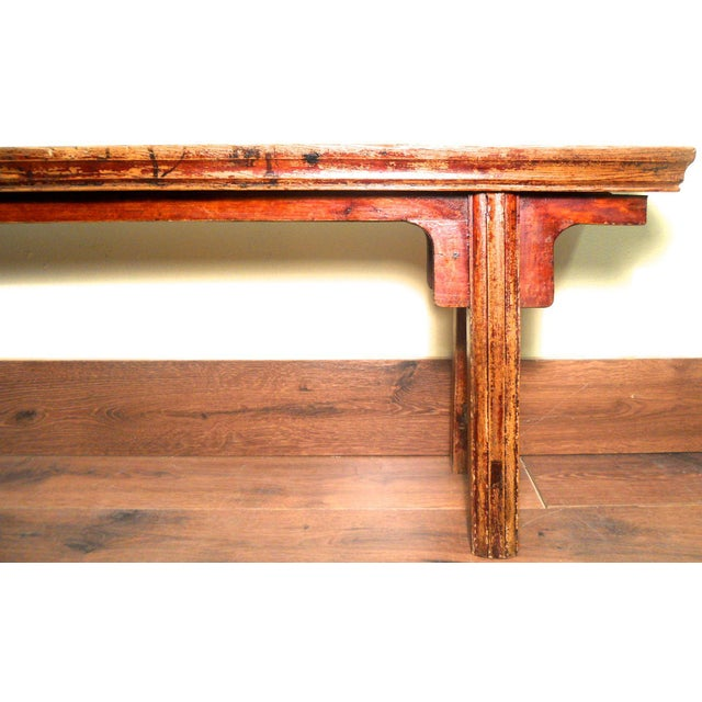 Antique Chinese Ming Long Bench - Image 10 of 10