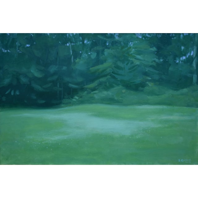 "Contemporary Stephen Remick ""Clover in the Backyard"" Landscape Painting For Sale - Image 11 of 11"
