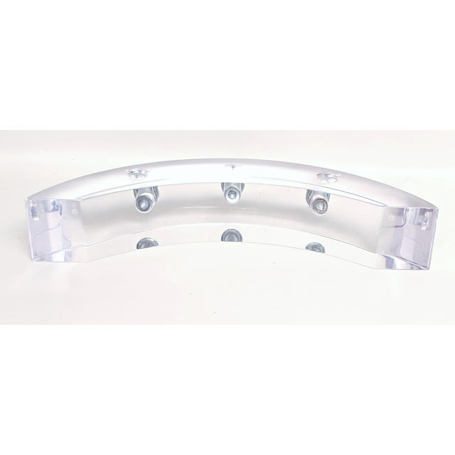 Vintage Lucite Arched Candle Holder by Astrolite Ritts For Sale - Image 9 of 11