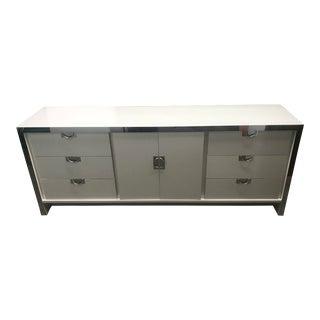 Vintage Chrome and White Dresser
