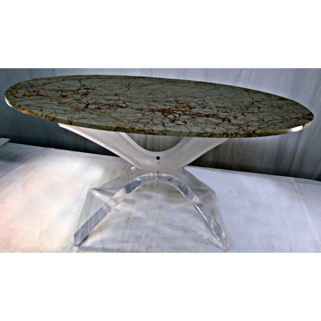 Lucite & Marble Coffee Table - Image 2 of 8