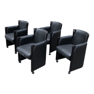 1980s Postmodern Club Chairs by Ipf International - Set of 4 For Sale