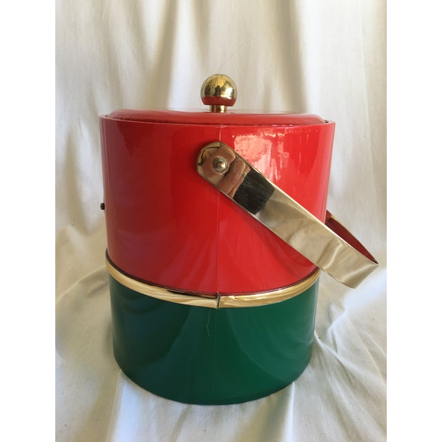 Mid-Century Modern Georges Briard Holiday Ice Bucket For Sale - Image 3 of 9