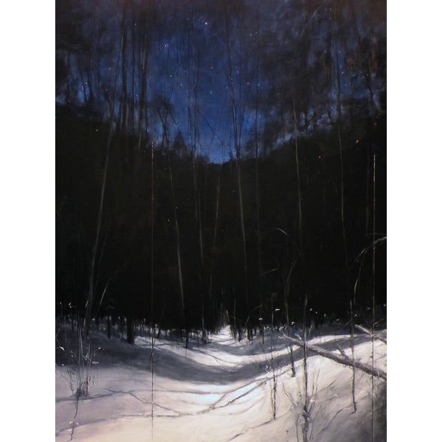 Contemporary Original Winter Landscape Painting For Sale - Image 3 of 6