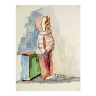 Vintage French Doll Watercolor Painting